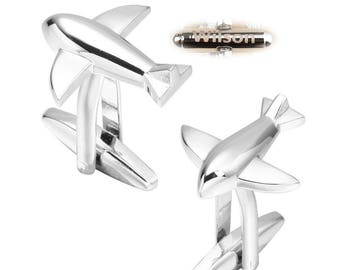 Airplane cufflinks.space travel cufflinks.discovery.space.Cuff Links