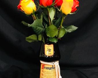 Frangelico Liqueur Bottle Vase