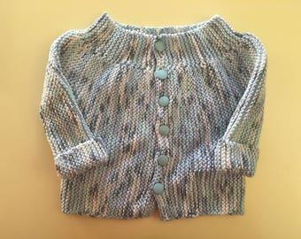 Gradient blue newborn 3 months baby vest
