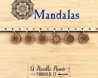 Mandala stitch marker set, snag free stitch markers. stitch markers for knitting. Snag Free Stitch markers, knitting