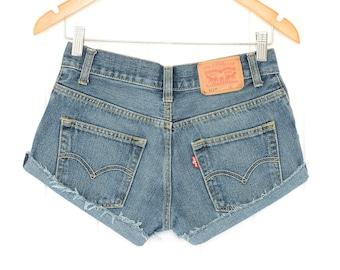 Levis High Waisted Shorts Levis Shorts Vintage Levi High Waisted Jean Shorts High Waist Shorts Vintage Levis Denim Levi Shorts xs waist 27