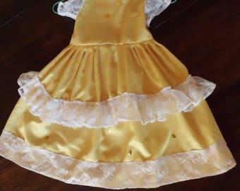 yellow princess dress for girls