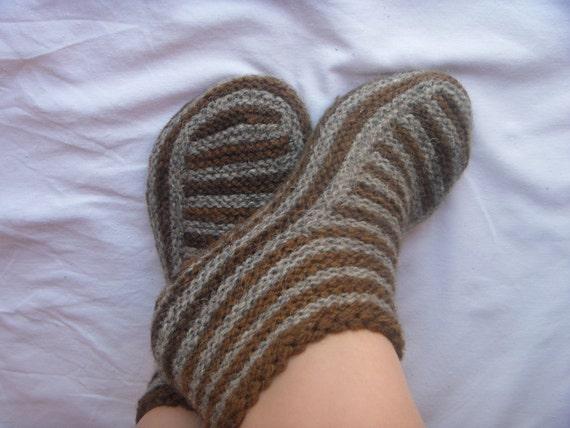 Adult Slippers Pattern Knitting Patterns Knit Slipper Pattern