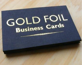 100 Custom Design Gold Foil Business Cards