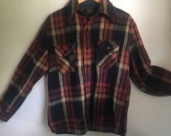 Warm Wool-blend Plaid Button up