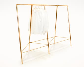 Double TriRack Copper Clothing Rack