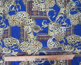 Italian style Ornamental Cotton Lycra Knit Fabric