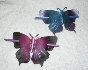 Butterfly hair stick - made to order so you can pick the colours