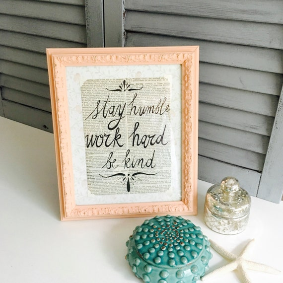 Vintage Dictionary Paper Print Quote Shabby Chic Frame with