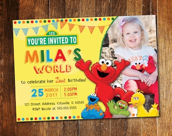 Elmo bday invite Etsy