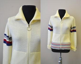 1970s Twixteen Zipper Front Cardigan