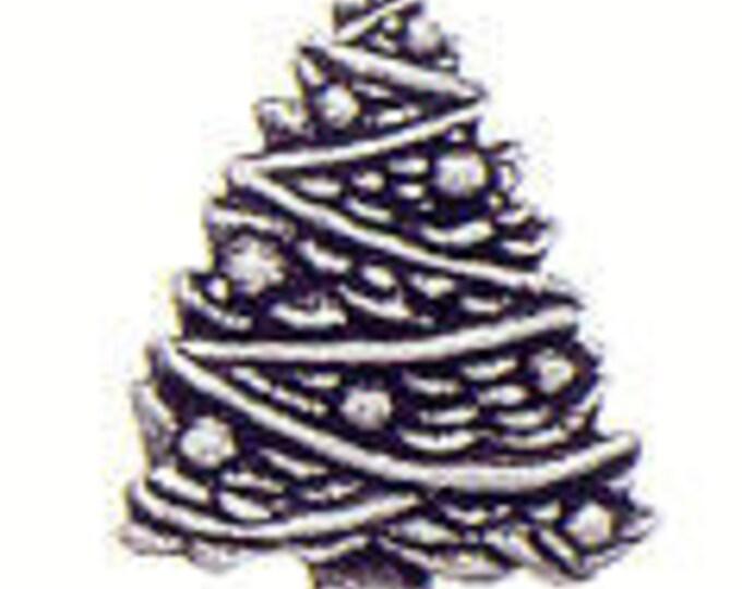 Christmas Tree Danforth pewter shank button