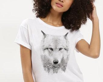 White Wolf Women T-Shirt