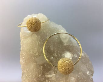 Gold Dust Sparkle Hoops in Goldfill Infinity Hoops