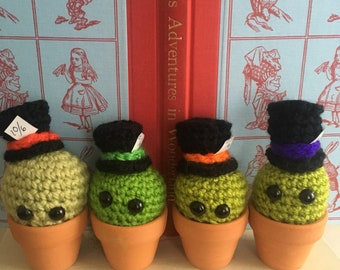 Mad hatter cactus inspired by Alice in wonderland