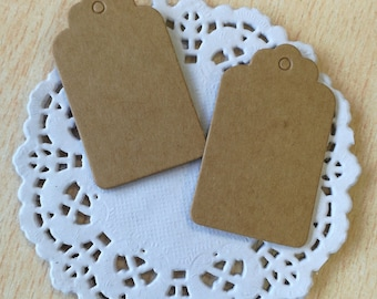 10 recycled paper tag