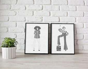 I am the Future Print Set - Print Set - Gift Set - Black Girl Magic - Feminist - Inspirational Art - Black Art - Empowering Art - Positive