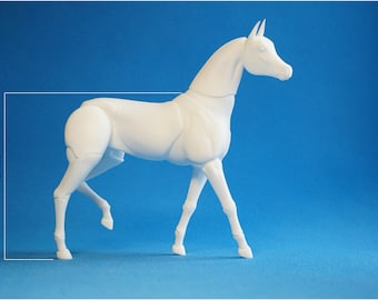 Realistic BJD Horse.  12.7 cm at the withers.