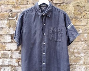 Stone Island Denims Navy Short Sleeve Shirt Large.