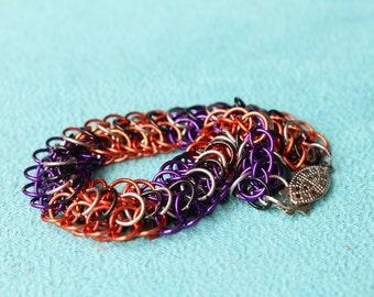 Halloween Stripe chain maille bracelet