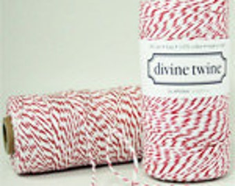 CHERRY Twine- 240 yards (red and white)