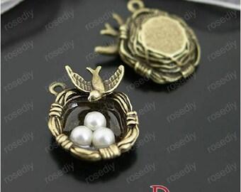 5 bronze 24 * 24MM D26629 nest charm