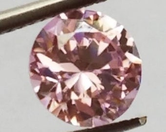 10 Round Peach Padparadscha Cultured Sapphires