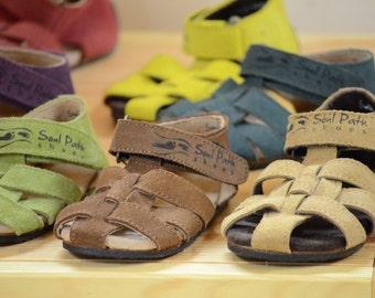 Ergo Gnomes Children's Sandals - Natural Shoes for Kids - Handmade Toddler's Sandals - Natural Walking Sandals for Kids -