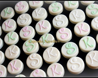 Edible wedding favor etsy monogram cookies initial edible wedding favors chocolate oreos pops bride groom gift dessert table rehearsal junglespirit Gallery