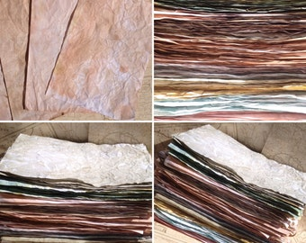 Tea stained paper,Dyed Paper, Craft paper, scrapbook paper, Journal pages, paper, junk journal, aged paper, wedding stationery, walnut stain