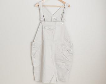 Vintage 90s Tan Cherokee Shortall Overall Shorts Dungaree Shorts // womens xxxl - size 24 womens