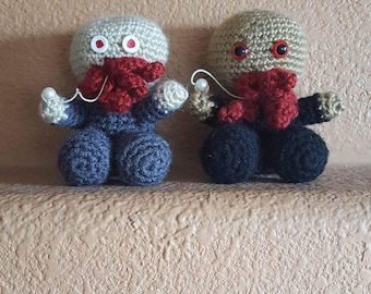 Dr Who's Ood ~ Crochet Doll