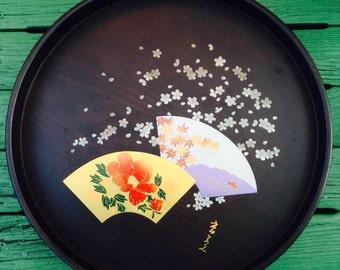 Vintage Japanese Serving Platter--Brand New--Wooden