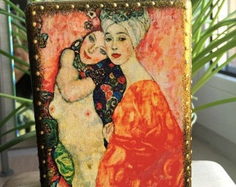 Gustav Klimt Makeup Organizer Makeup Brush Holder Makeup Storage Acrylic Makeup Organizer Makeup Brush Organizer Makeup Gift