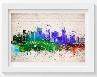 San Francisco In Color Poster, Home Decor, Gift Idea
