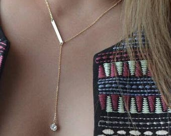 Y Necklaces For Women Jewelry Gift, Delicate  Y Gold Necklace / Drop Necklace
