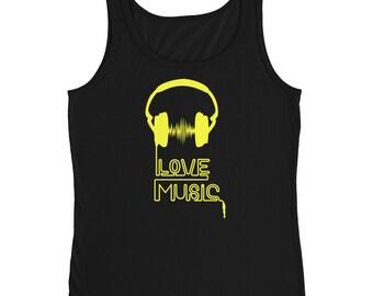 Bright Yellow Music Love Ladies' Tank