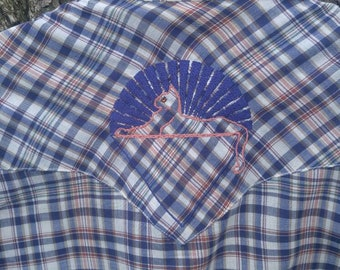 Grateful Dead vintage Levi snap down western shirt - size L plaid shirt