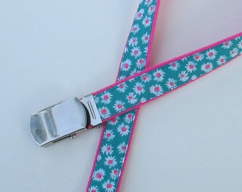 Flower Belt for Girls, Cute Kids Belts for Kids, Cute Girls Belts, School Belts, Belt with Flowers, Girls Belts with Flowers, Uniform Belts