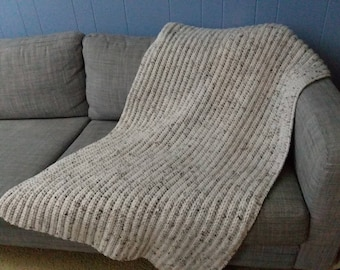"White ""Twiggy"" Lap Blanket - ready to ship"