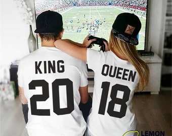 Any number, Price for 1 T-shirt, King Queen T-shirt, Matching Shirts, King and Queen, Family shirts