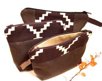 Linen clutch bag,  A Gift that travels, Handmade from pure linen