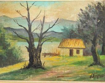 Painting, Oil painting, original Painting, Original oil Painting, signed painting, vintage Framed Painting, landscape.