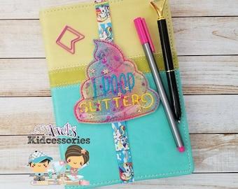 I Poop Glitter Planner Band - Unicorn Poop Bookmark - Book Accessories - Unicorn Planner Band - Planner Accessories