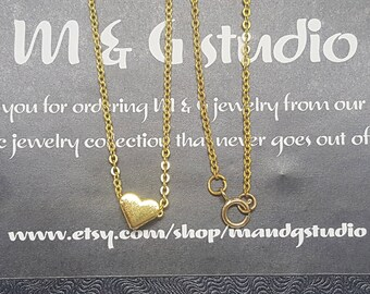 Chubby heart charm necklace