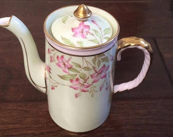 Very rare and lovely aynsley pink vintage tea /coffee pot