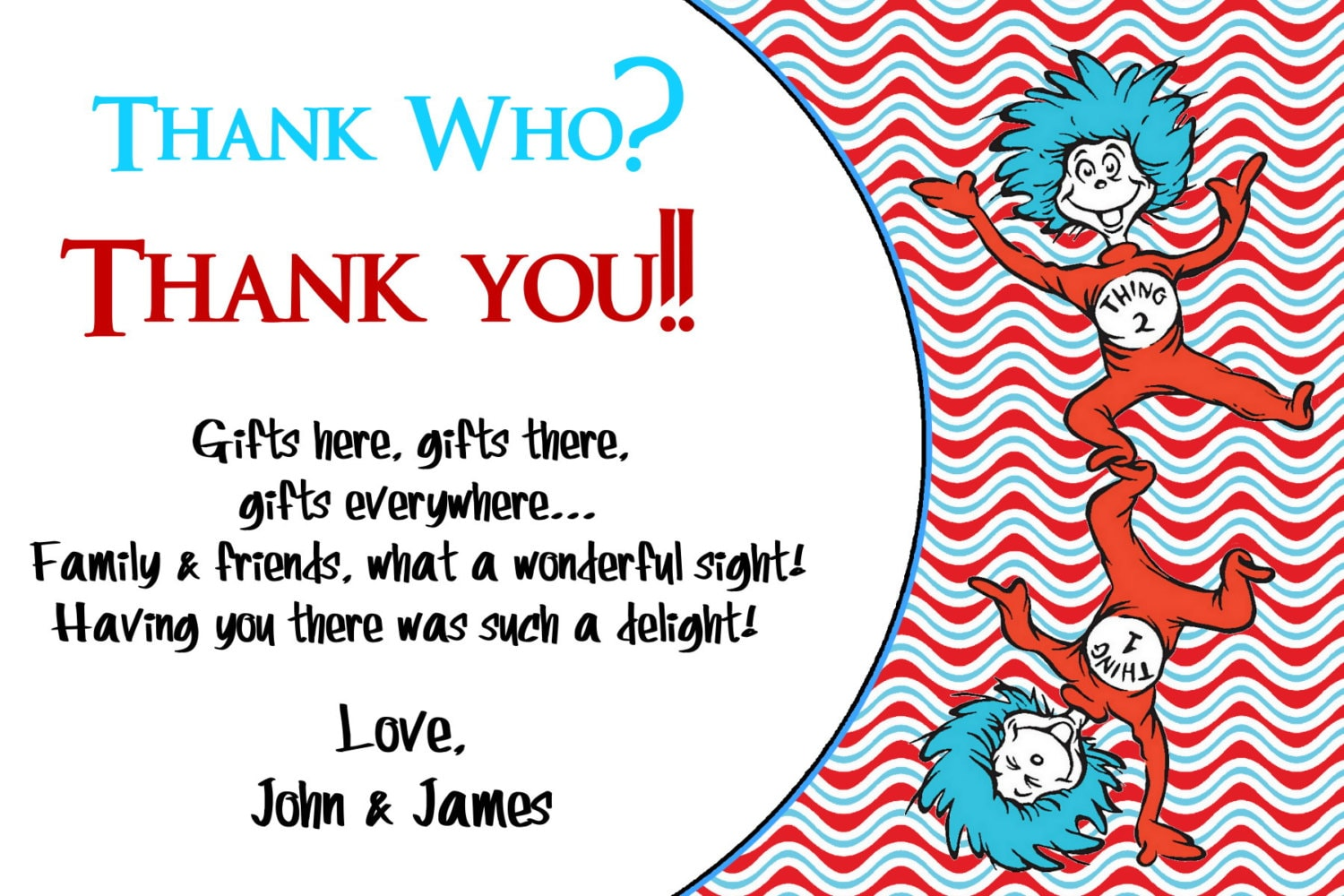 Dr Seuss Thank You Card Thank You Birthday Cards Printable