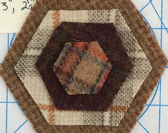 Wool Hexagons Graduated Sizes A
