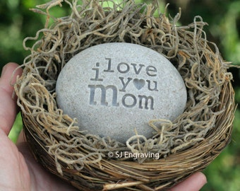Birthday gift for mom - message nest by sjEngraving