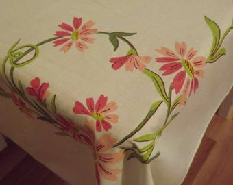Vintage Farm House Table Cloth Ships Free in U.S.A. Next Day